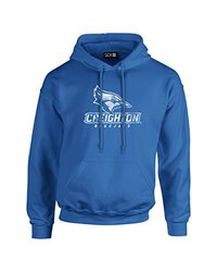 NCAA Creighton Bluejays Mascot Foil Long Sleeve Hoodie, XX-Large, Royal