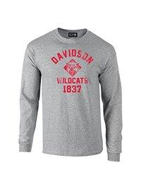 NCAA Davidson Wildcats Mascot Block Arch Long Sleeve T-Shirt, Medium, Sport Grey