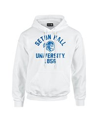 NCAA Seton Hall Pirates Mascot Block Arch Long Sleeve Hoodie, Large, White