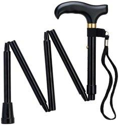 Harvy Adjustable Mini Folding Travel Cane - Black