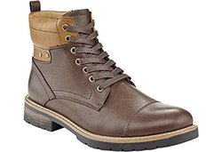 Marco Vitale Men's Cuff Lace Up Work Boots - Brown - Size: 10.5