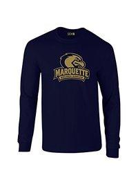 SDI NCAA Marquette Golden Eagles Long Sleeve T-Shirt - Navy - Size: Small