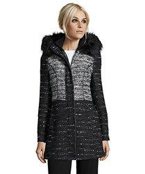 Catherine Catherine Malandrino Wool Blend Tweed Coat Large