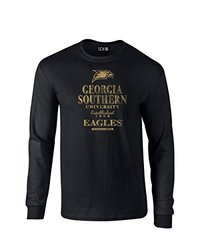 NCAA Georgia Southern Eagles Stacked Long Sleeve T-Shirt - Black - Small