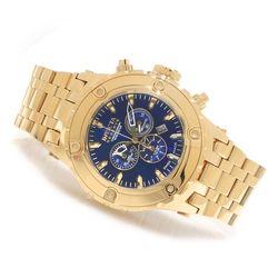 Invicta Reserve 52mm Subaqua Swiss Quartz Chronograph Watch - Gold/Blue