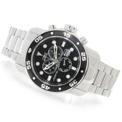 Invicta Men's 48mm Pro Diver Scuba Quartz Chrono Bracelet Watch - Black