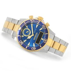 Men's 43mm Pro Diver Intrinsic Quartz Analog/Digital Bracelet Watch - Blue