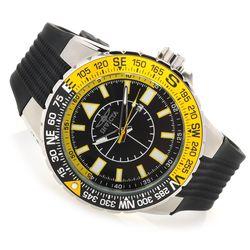 Invicta Men's 52mm Aviator Voyage Quartz Silicone Strap Watch - Blk/Yellow
