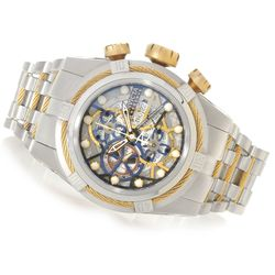 Invicta Reserve Men's Bolt Zeus SW500 Dial Bracelet Watch - Goldtone