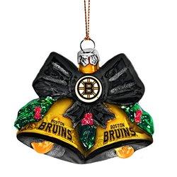 NHL Boston Bruins Glitter Bells Ornament