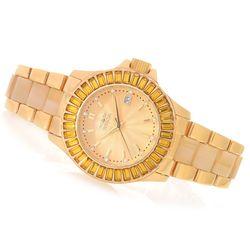 Women's 38mm Collins Quartz Swarovski Stainless Bracelet Watch - Yellow