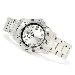 Invicta Men's 44mm Sport Day & Date Quartz SS Bracelet Watch - Silvertone
