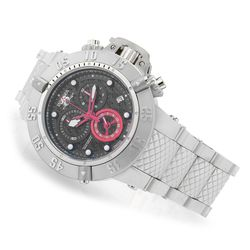 Men's 50mm Subaqua Noma III Swiss Quartz Chrono Bracelet Watch - Black