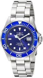 Men's 43mm Pro-Diver Auto Stainless Steel Bracelet Watch - Silvertone/Blue