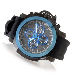 Invicta Reserve Man's Automatic Chronograph Silicone Strap Watch - Blue