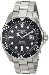 Men's 46mm Pro Diver Quartz Carbon Fiber Dial Stainless Steel Watch -Black