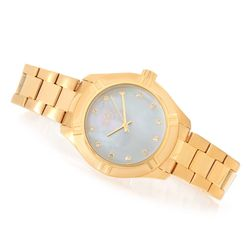 Men's Pro Diver 38mm Quartz Mother-of-Pearl Dial Bracelet Watch - Goldtone