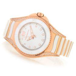 Technomarine Women's Swiss Quartz 0.25ctw Diamond Bracelet Watch - White