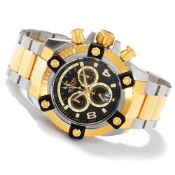 Men's 63mm Grand Octane Swiss Quartz Chronograph Watch - Gold / Silver