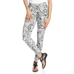 Kate & Mallory Women's Knit Pull-on Ankle-Length Leggings - Lace - Size: S