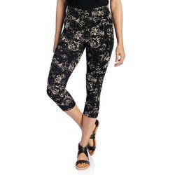 Kate & Mallory Women's Knit Pull-on Capri Leggings - Mineral Wash - Sz: L