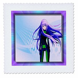 3dRose qs_28777_7 Futuristic Anime-Quilt Square, 18 by 18-Inch