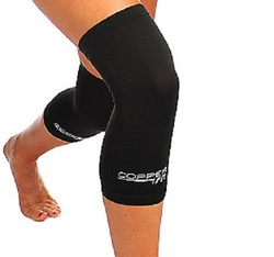 Copper Fit Copper Infused Compression Knee Sleeves - 2Pk - Black - Sz: X/L