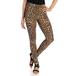 Kate & Mallory Women's Knit Pull-on Ankle-Length Leggings - Animal / 1X