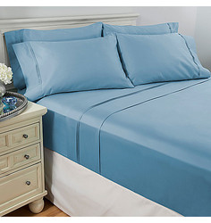 North Shore Living 6pcs 950TC Egyptian Cotton Sheet Set - Sky Blue - Full