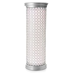 """Style at Home w/ Margie 23.5"""" Starlite Wireless LED Pedestal Lamp - Silver"""