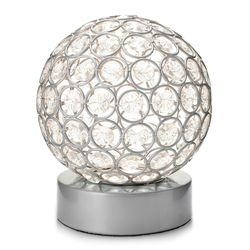 "Style at Home w/ Margie 6.5"" Wireless LED Glass Globe Accent Lamp - Silver"