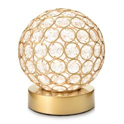 "Style at Home w/ Margie 6.5"" Wireless LED Glass Globe Accent Lamp - Gold"
