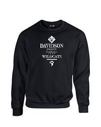 NCAA Davidson Wildcats Stacked Vintage Crew Neck Sweatshirt, Large, Black