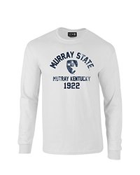 NCAA Murray State Racers Mascot Block Arch Long Sleeve T-Shirt, Medium, White