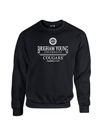 NCAA Byu Cougars Classic Seal Crew Neck Sweatshirt, XX-Large, Black