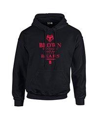 NCAA Brown Bears Stacked Vintage Long Sleeve Hoodie, X-Large, Black
