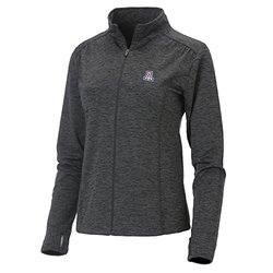 NCAA Arizona Wildcats Women's Swerve Full Zip Jacket, Large, Charcoal