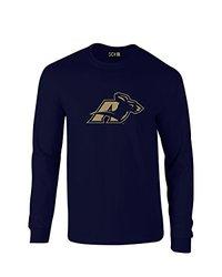 SDI NCAA Akron Zips Mascot Foil Men's Long Sleeve T-Shirt - Nvy -Size: XXL