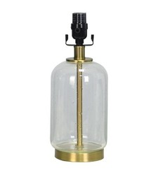 Threshold Lamp Base Bubble Glass with Brass - Small