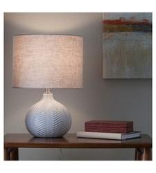 Threshold Herringbone Ceramic Table Lamp - Cream