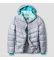 C9 Champion Girl's Puffer Jacket - Gray - Size: Small