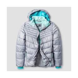 C9 Champion Girl's Puffer Jacket - Gray - Size: M