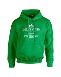 Sdi NCAA Delta State Men's Stacked Vintage Hoodie - Irish Green - Size: S