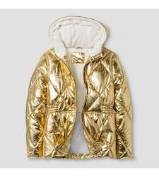 Cat & Jack Girl's Short Puffer Jacket - Gold - Size: Large