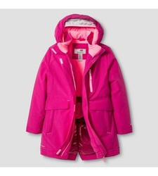 C9 Champion Girls' Heavy Weight Parka Jacket - Pink - Size: XS