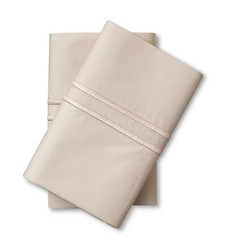 Fieldcrest Supima Satin Stitch Pillowcase Set - Sea Salt - Size: King