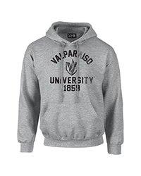 NCAA Valparaiso Crusaders Mascot Block Arch Long Sleeve Hoodie, XX-Large, Sport Grey