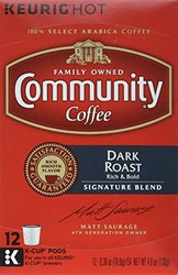 Community Coffee Dark Roast Coffee K-Cup Pods, 12 ct