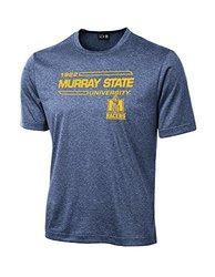 NCAA Murray State Racers University Tech Performance T-Shirt, Medium, Navy