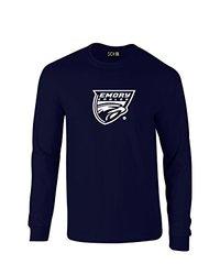 NCAA Emory Eagles Mascot Foil Long Sleeve T-Shirt, XX-Large, Navy